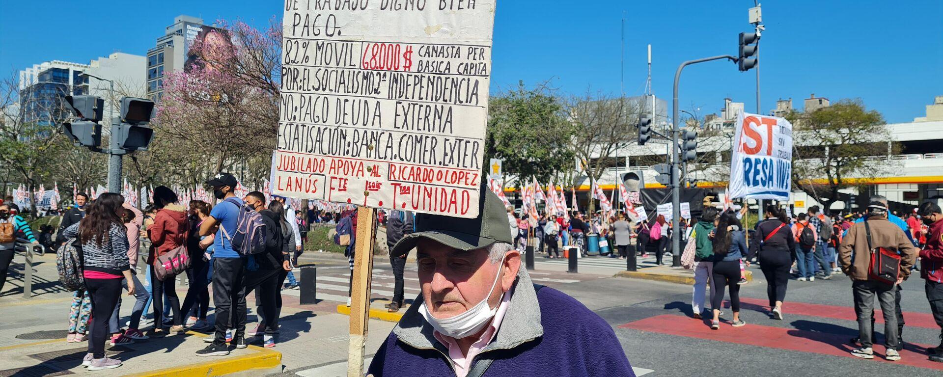 Movimientos de desocupados marchan en Argentina - Sputnik Mundo, 1920, 16.09.2021