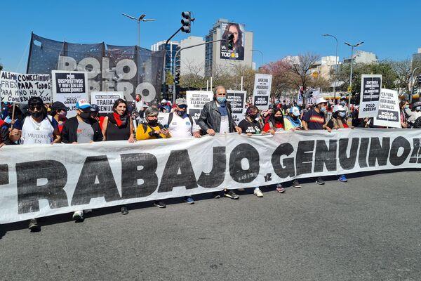 Movimientos de desocupados marchan en Argentina - Sputnik Mundo