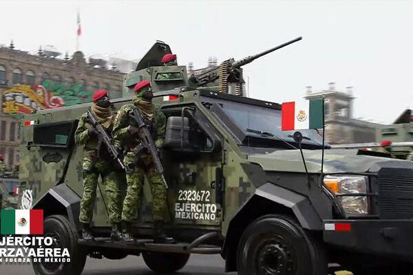 Desfile cívico-militar en el Zócalo de la Ciudad de México - Sputnik Mundo