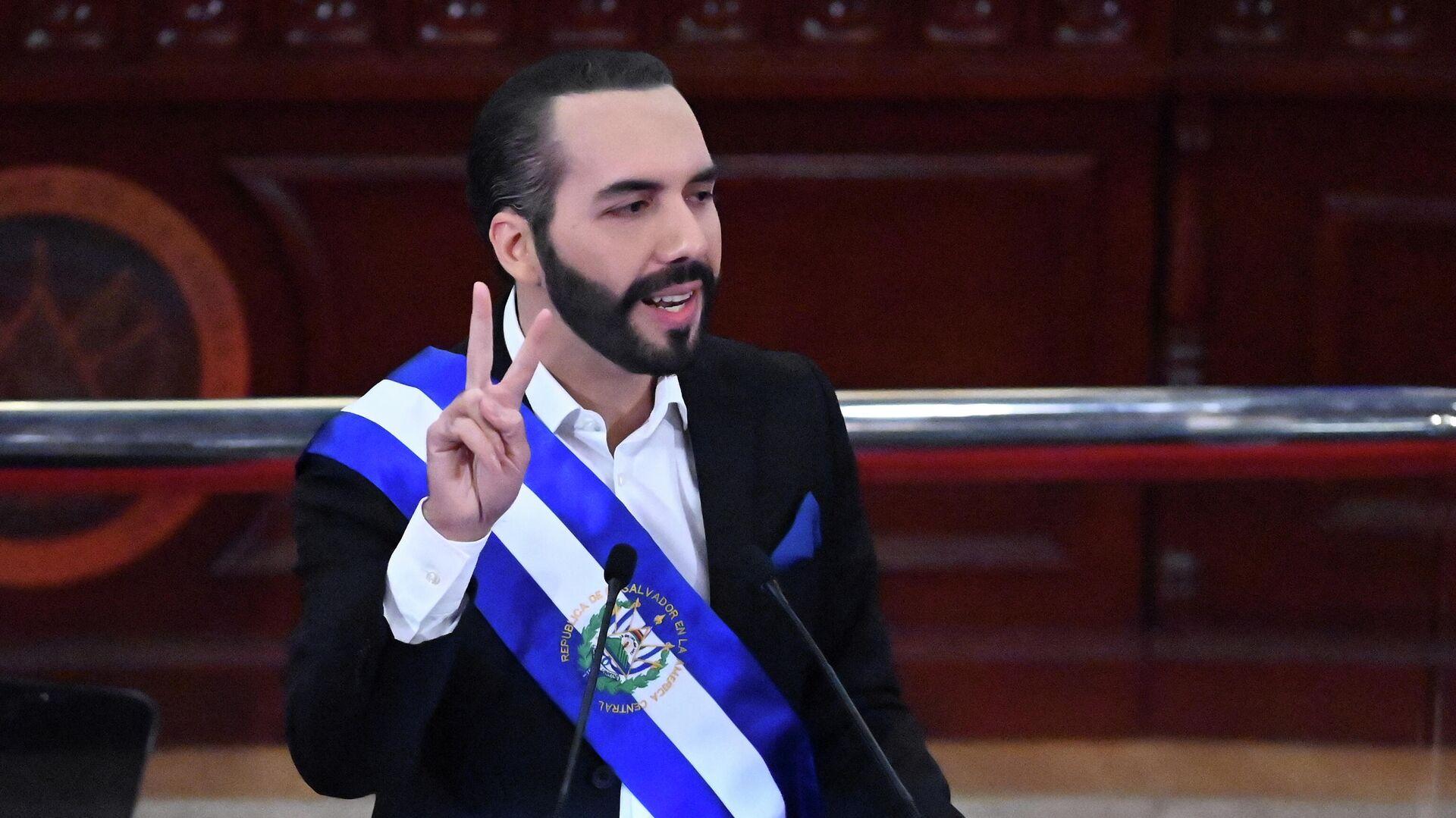 Nayib Bukele, presidente de El Salvador - Sputnik Mundo, 1920, 17.09.2021