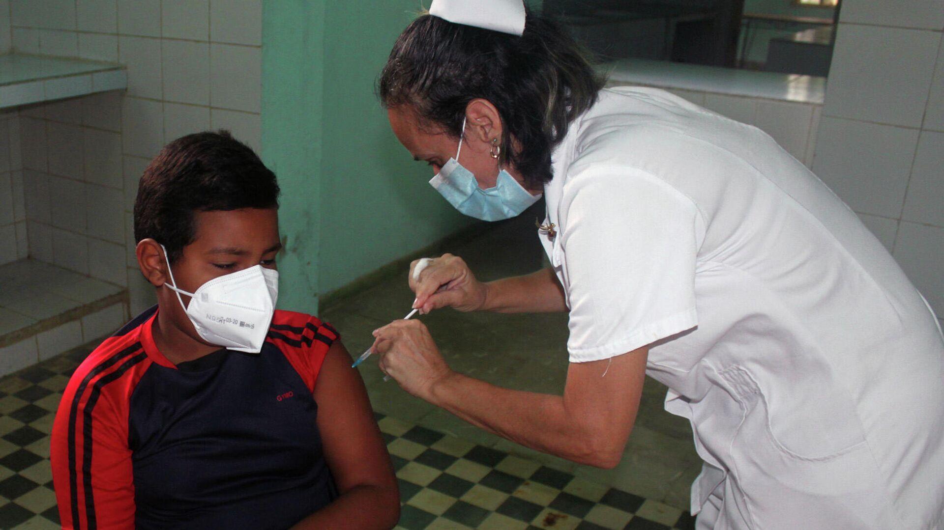 Niños vacunados en Cuba - Sputnik Mundo, 1920, 16.09.2021