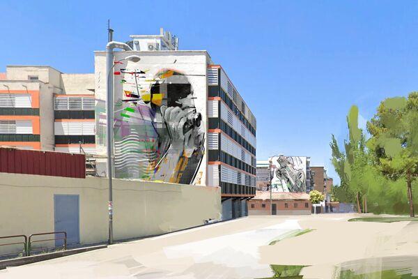 Proyecto para la revitalización de la zona donde Robert Capa tomó una foto en la Guerra Civil, en el barrio de Vallecas (Madrid) - Sputnik Mundo