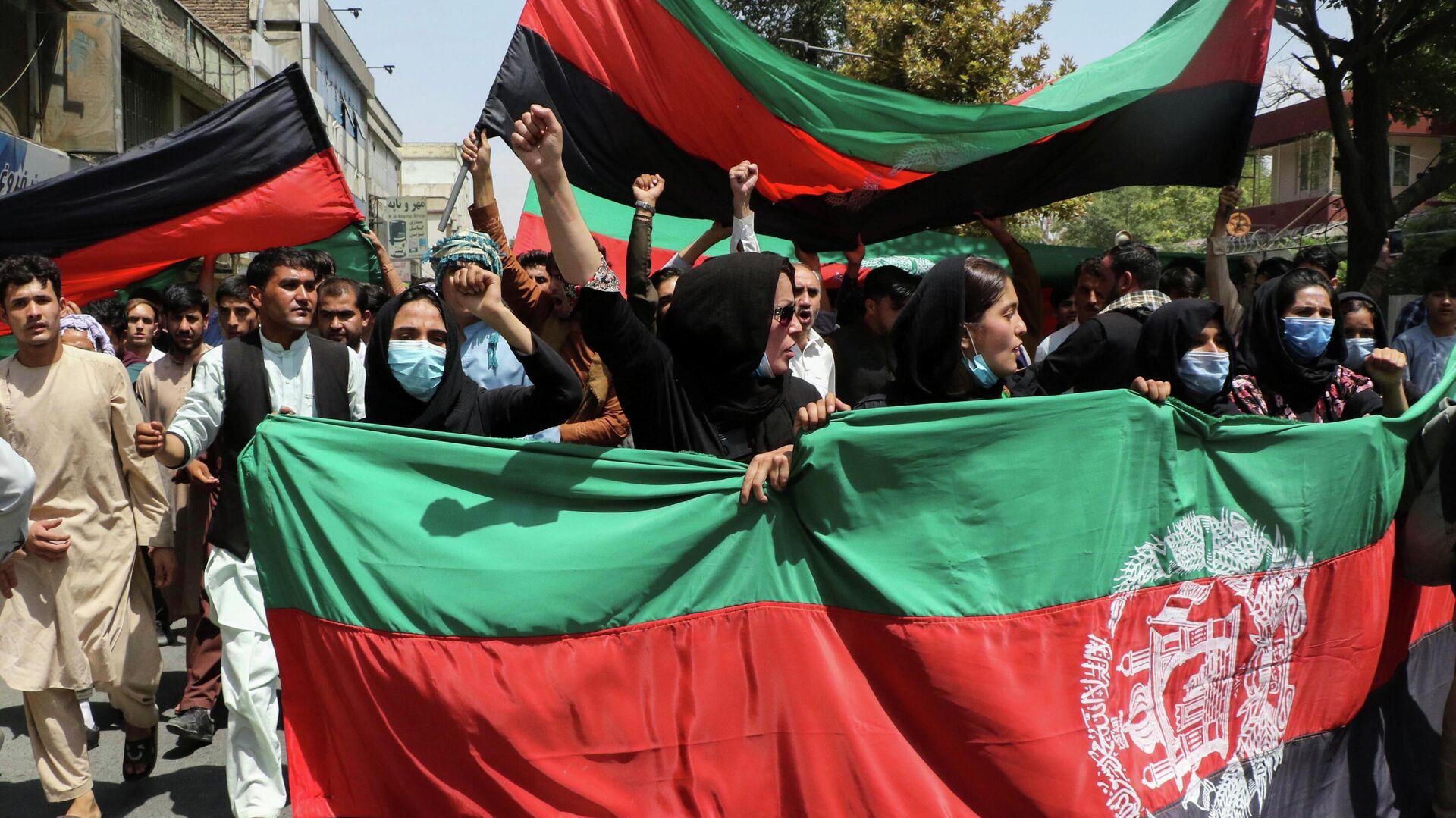 Una protesta en Afganistán - Sputnik Mundo, 1920, 17.09.2021