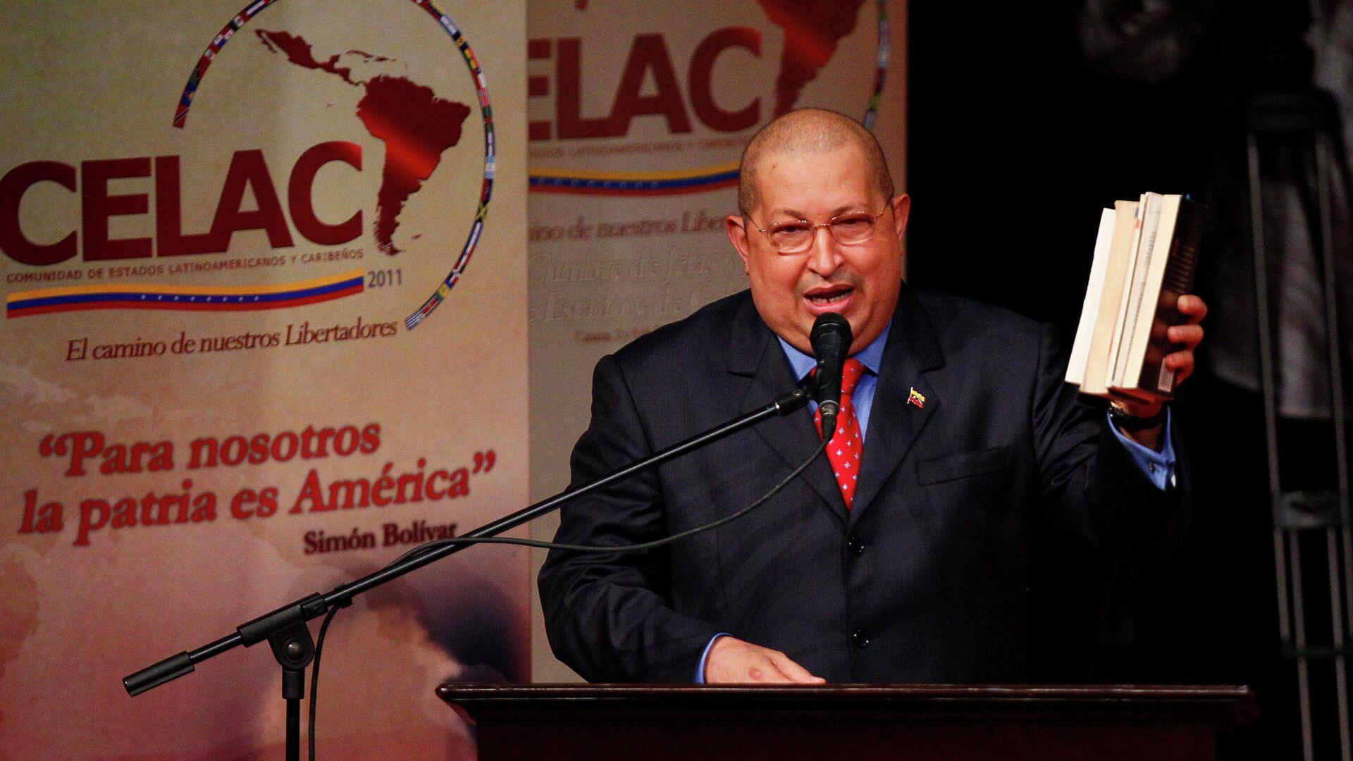El entonces presidente de Venezuela, Hugo Chávez, durante la reunión de la Celac en Caracas en 2011 - Sputnik Mundo, 1920, 17.09.2021