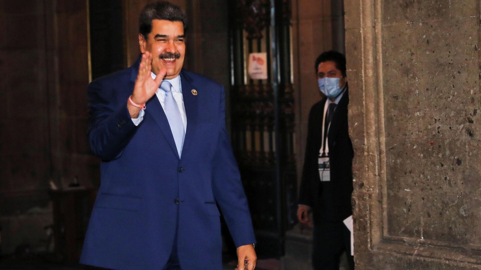 El presidente de Venezuela, Nicolás Maduro, en la VI Cumbre de la Comunidad de Estados Latinoamericanos y Caribeños (CELAC), Ciudad de México, México, 18 de septiembre de 2021 - Sputnik Mundo, 1920, 18.09.2021
