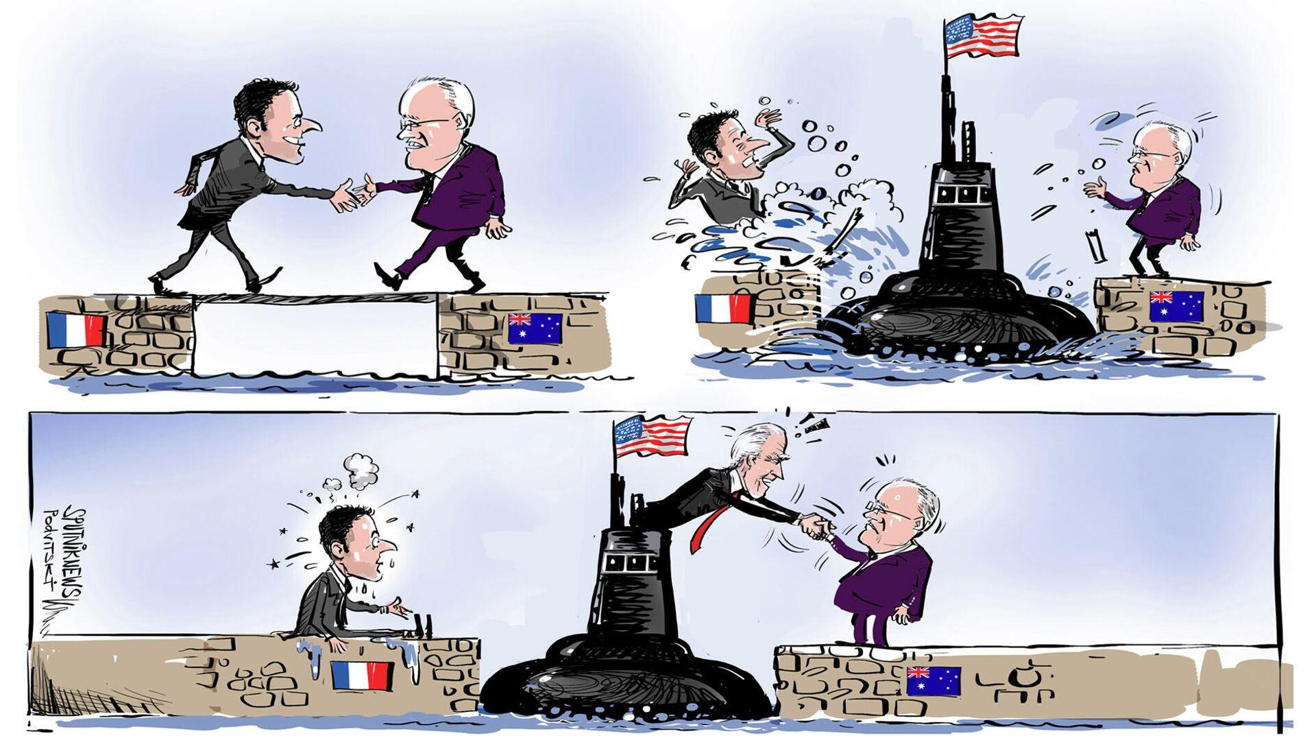 Los submarinos estadounidenses irrumpen entre Francia y Australia  - Sputnik Mundo, 1920, 18.09.2021