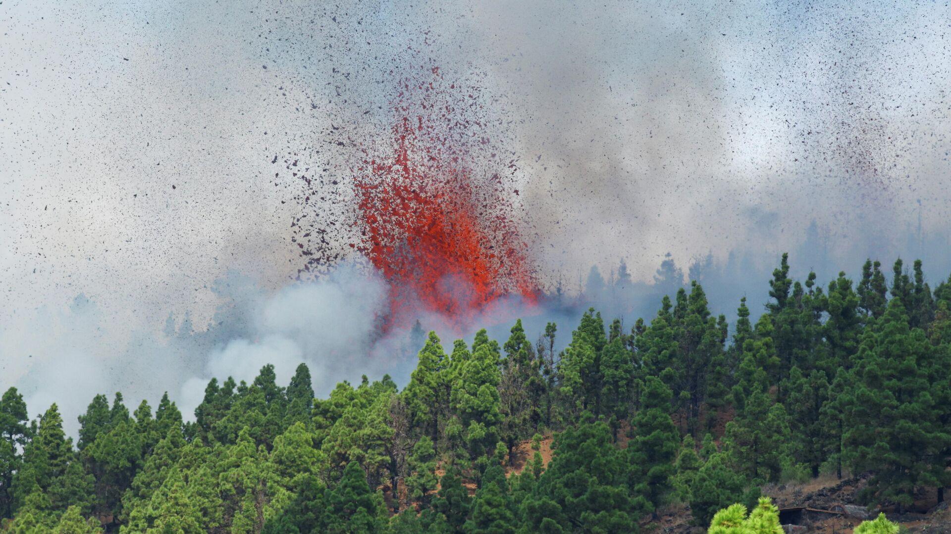 El volcán entra en erupción en la isla española de La Palma, España, 19 de septiembre de 2021 - Sputnik Mundo, 1920, 19.09.2021
