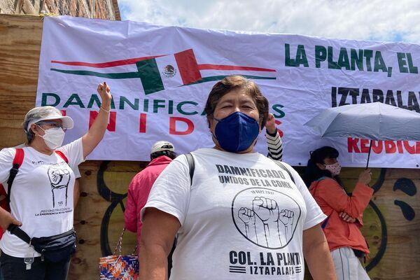 Luisa Aguirre, damnificada de la colonia La Planta, posa para foto - Sputnik Mundo