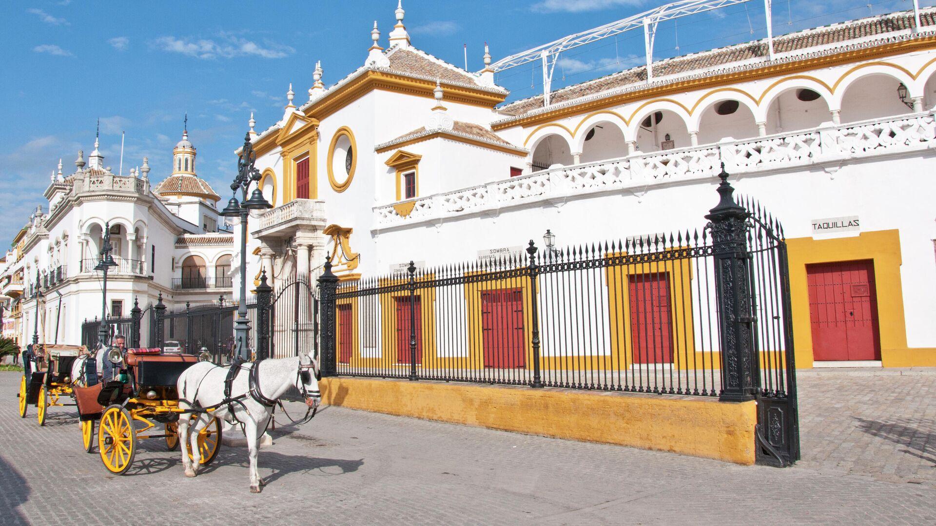 Coches de caballos como reclamos turístico en Sevilla - Sputnik Mundo, 1920, 21.09.2021