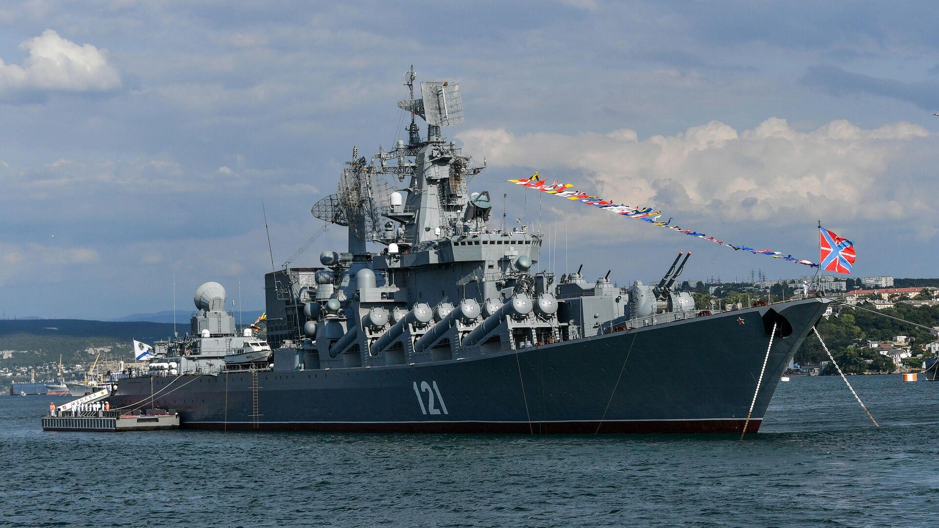 El crucero lanzamisiles ruso Moskva - Sputnik Mundo, 1920, 20.09.2021