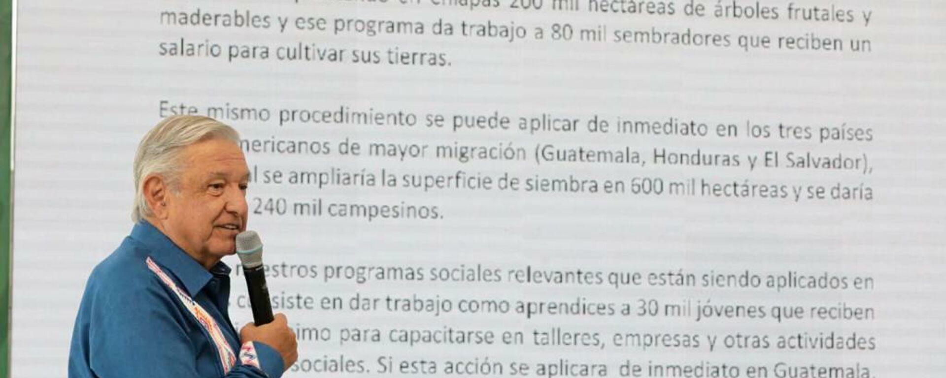Andrés Manual López Obrador, presidente de México - Sputnik Mundo, 1920, 20.09.2021