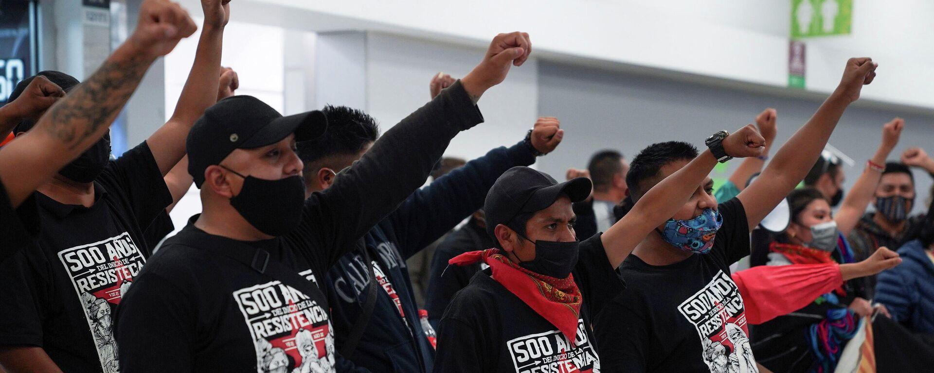 Integrantes del EZLN reciben a gira europea - Sputnik Mundo, 1920, 20.09.2021