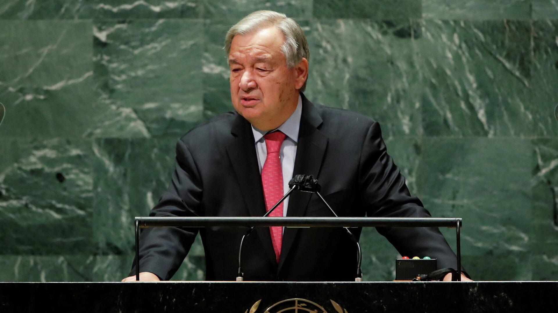 El el secretario general de la Organización de las Naciones Unidas (ONU), António Guterres - Sputnik Mundo, 1920, 14.10.2021