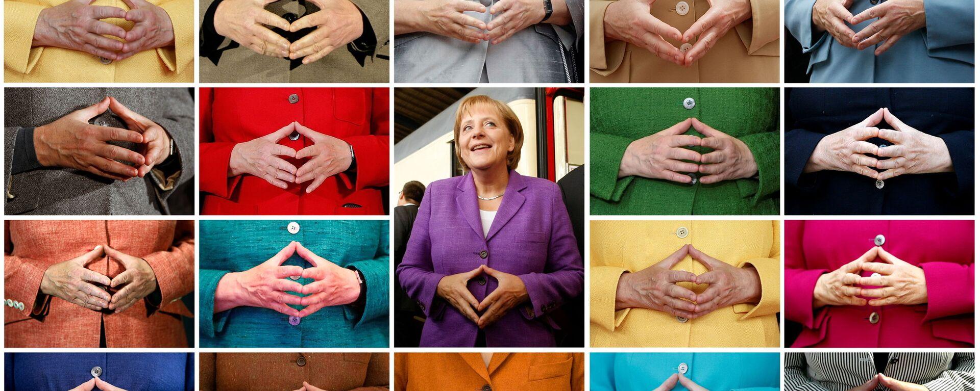 Комбинированный снимок знаменитого жеста рук Ангелы Меркель  - Sputnik Mundo, 1920, 22.09.2021