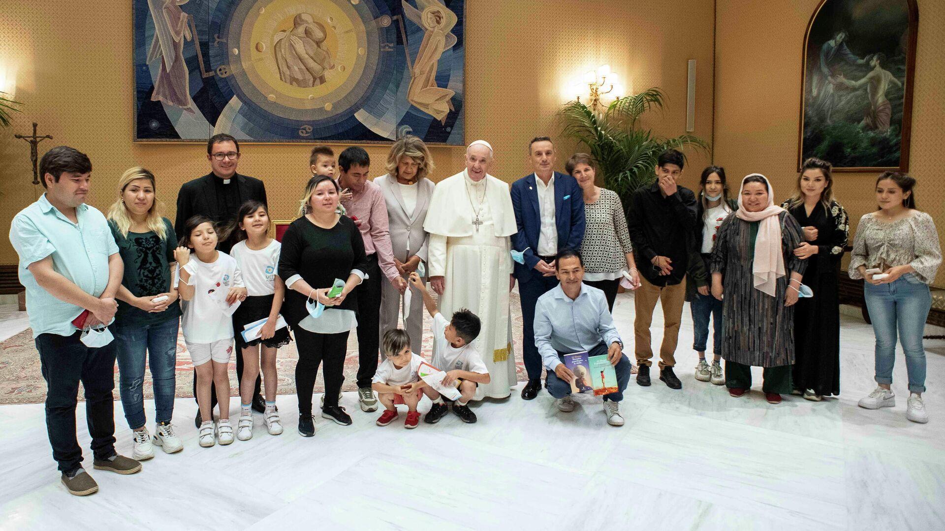 Papa Francisco recibe a cristianos afganos - Sputnik Mundo, 1920, 22.09.2021