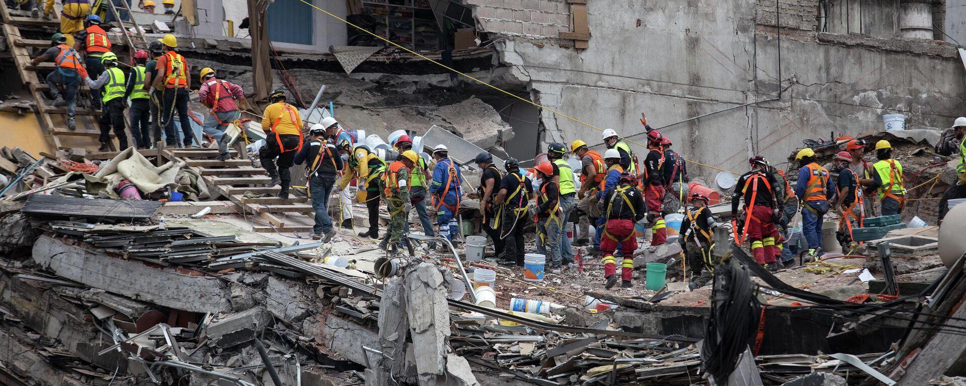 Terremoto del 19 de septiembre de 2017 en México - Sputnik Mundo, 1920, 22.09.2021