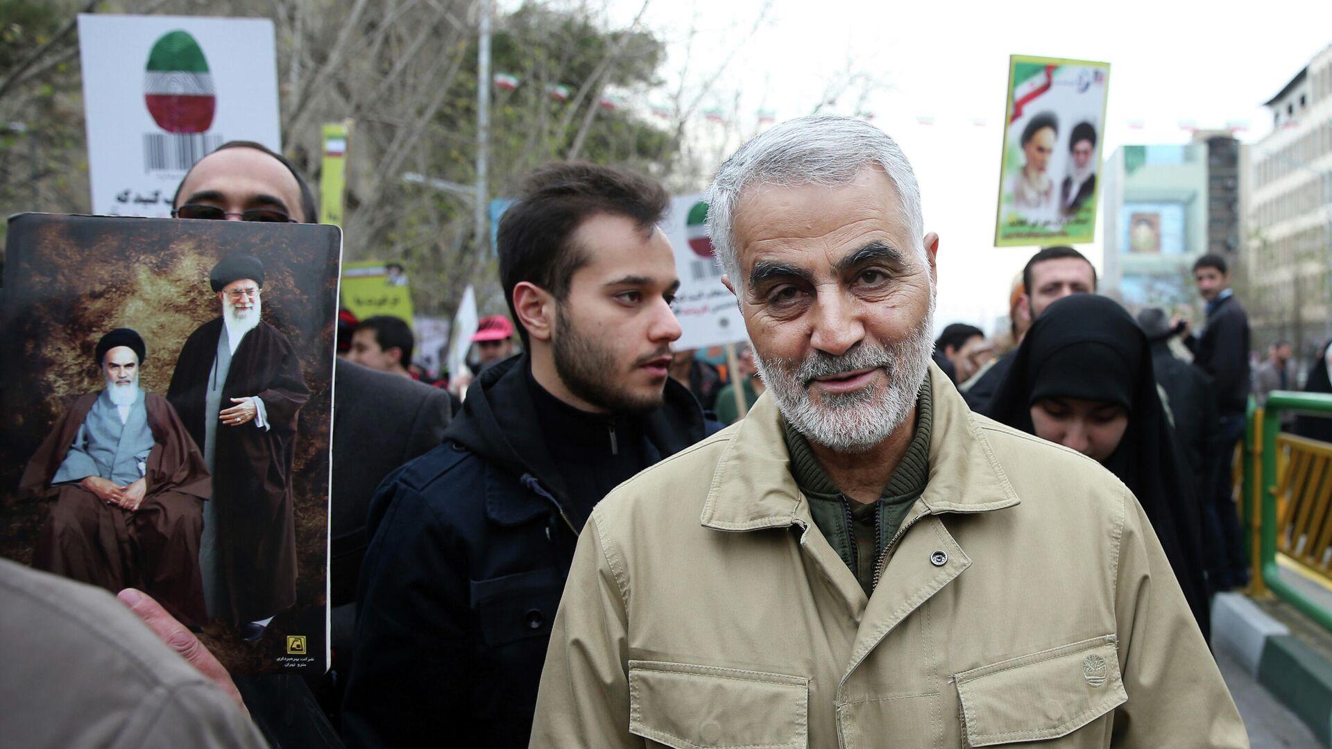 El general iraní Qasem Soleimani, comandante de las fuerzas especiales Quds - Sputnik Mundo, 1920, 22.09.2021