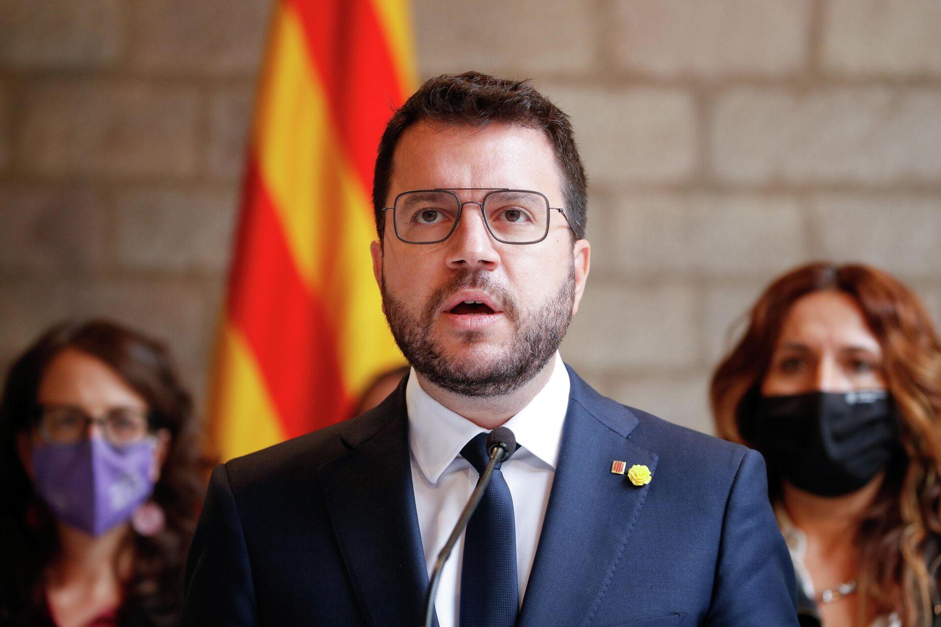 El presidente de la Generalitat de Cataluña, Pere Aragonès - Sputnik Mundo, 1920, 24.09.2021