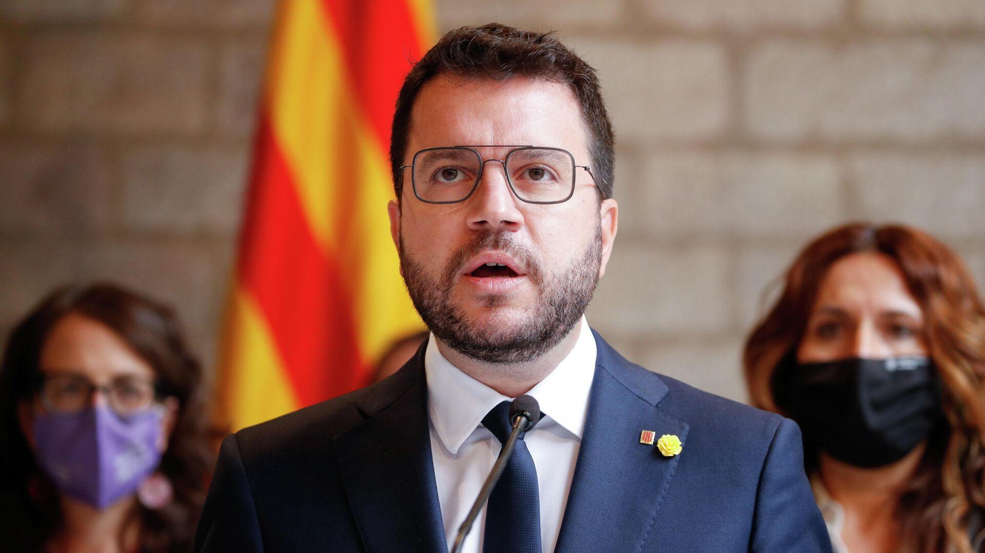 El presidente de la Generalitat de Cataluña, Pere Aragonès - Sputnik Mundo, 1920, 01.10.2021