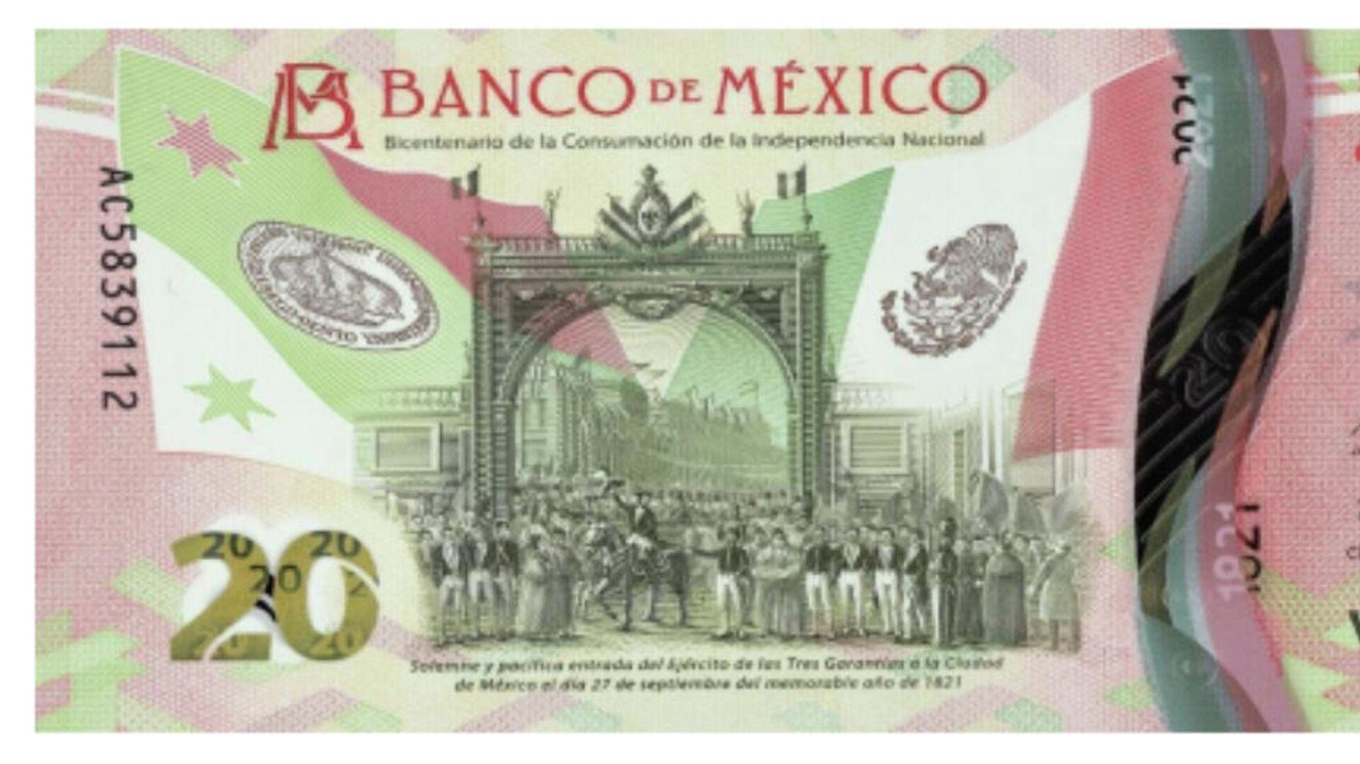 Nuevo billete de 20 pesos en México - Sputnik Mundo, 1920, 24.09.2021
