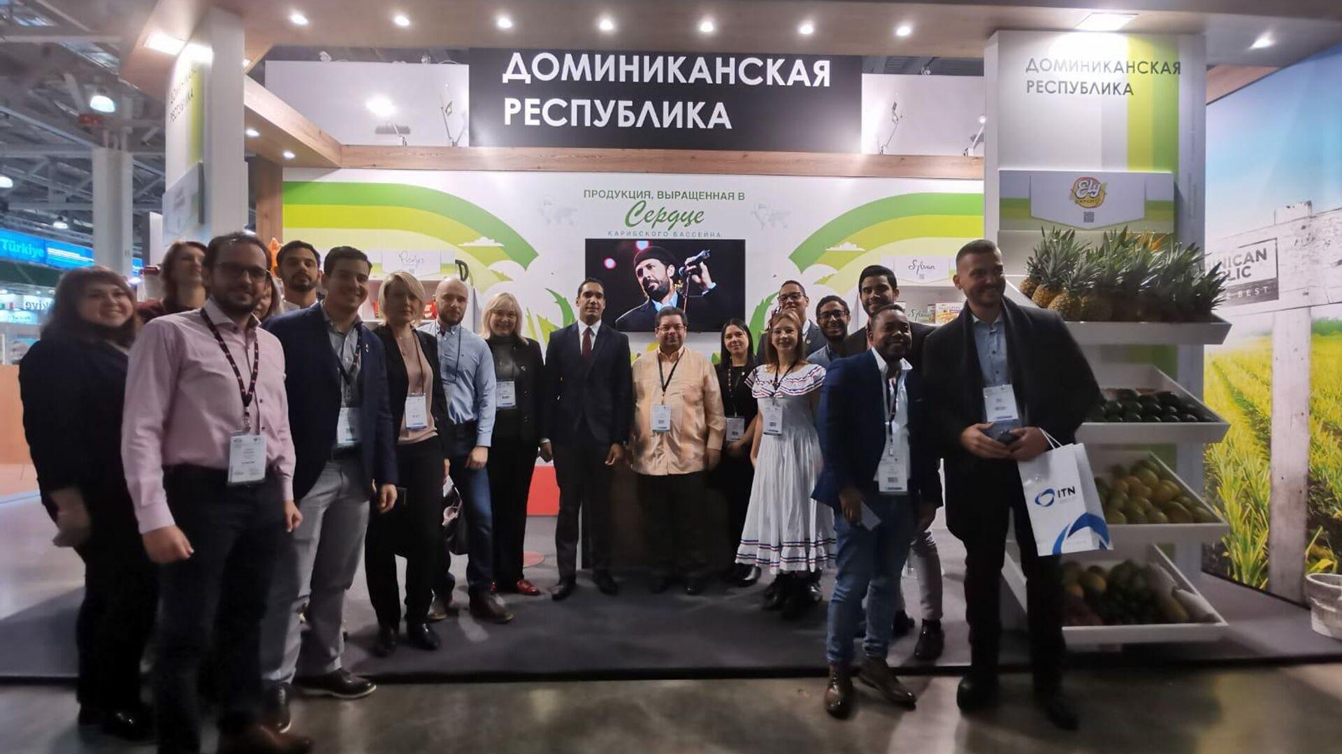 Hans Dannenberg Castellanos, embajador de la República Dominicana en Moscú, en la feria agroalimentaria WorldFood Moscow 2021 - Sputnik Mundo, 1920, 24.09.2021