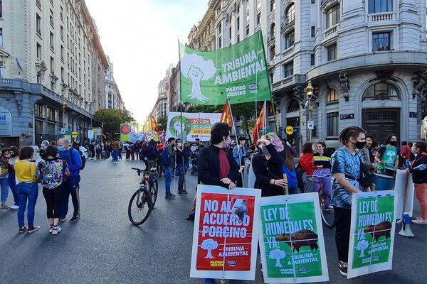Marcha en Argentina contra la crisis climática - Sputnik Mundo
