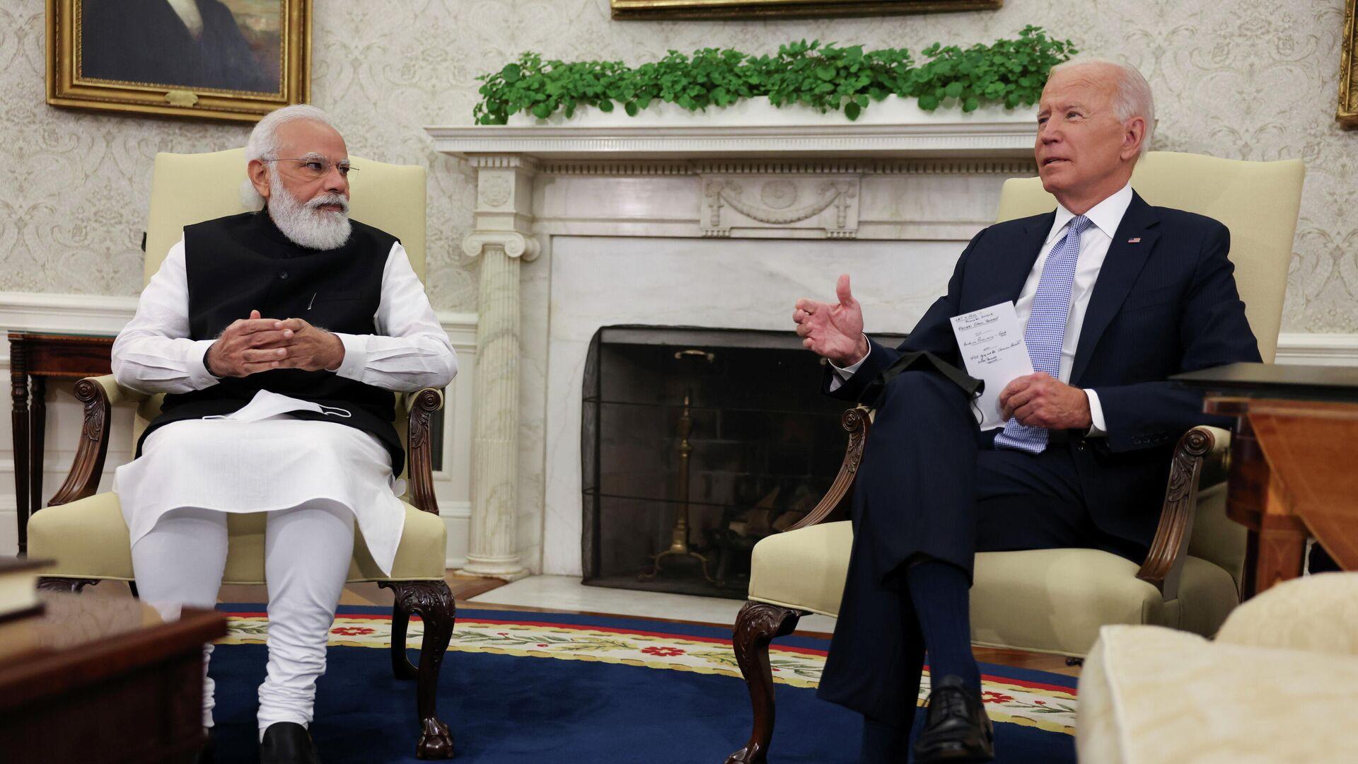 Primer ministro indio, Narendra Modi, y el presidente de EEUU, Joe Biden - Sputnik Mundo, 1920, 25.09.2021