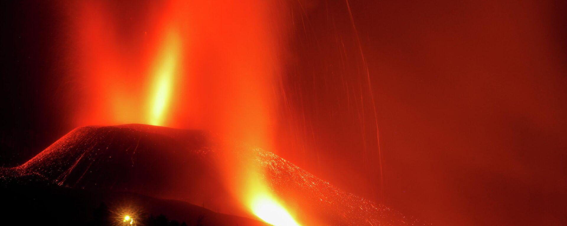 La erupción del volcán de La Palma - Sputnik Mundo, 1920, 25.09.2021