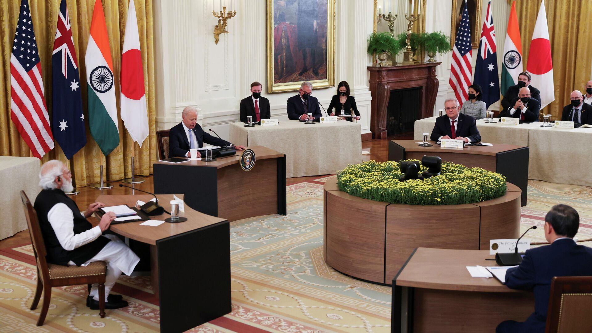 Los líderes del Quad se reúnen en la Casa Blanca el 24 de septiembre - Sputnik Mundo, 1920, 25.09.2021