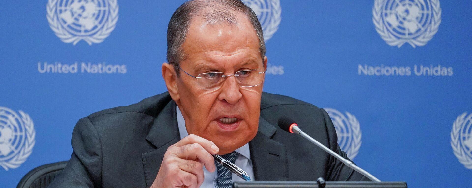 Serguéi Lavrov, el ministro de Asuntos Exteriores de Rusia - Sputnik Mundo, 1920, 25.09.2021