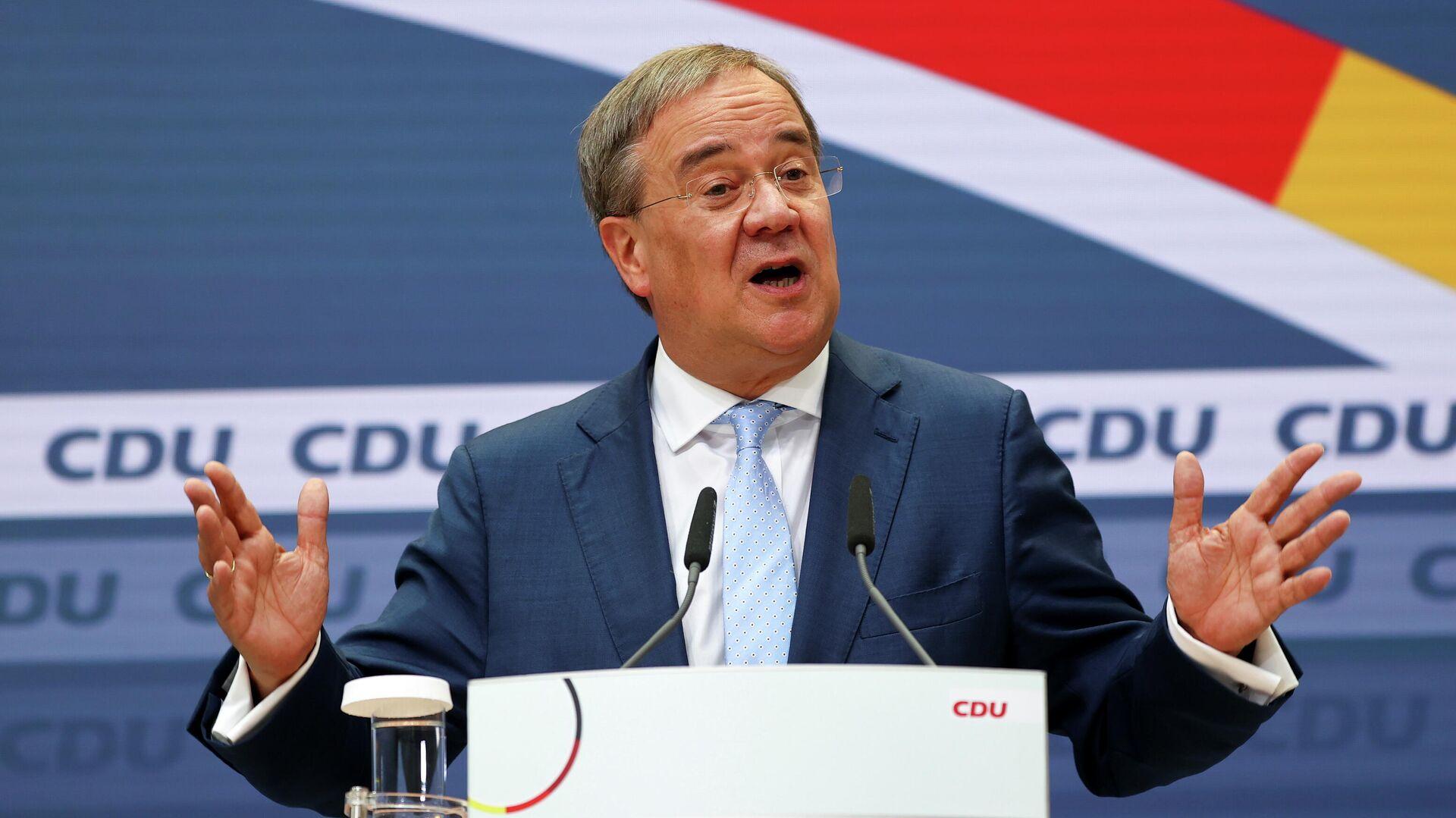Armin Laschet, candidato a canciller de Alemania de la alianza de la Unión Demócrata Cristiana y la Unión Social Cristiana (CDU/CSU) - Sputnik Mundo, 1920, 27.09.2021