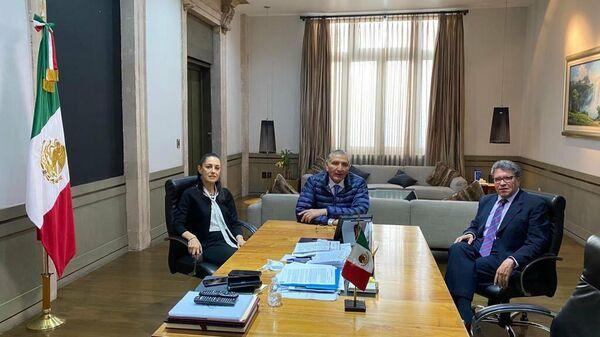 Ricardo Monreal, Claudia Sheinbaum y Adán Augusto López - Sputnik Mundo