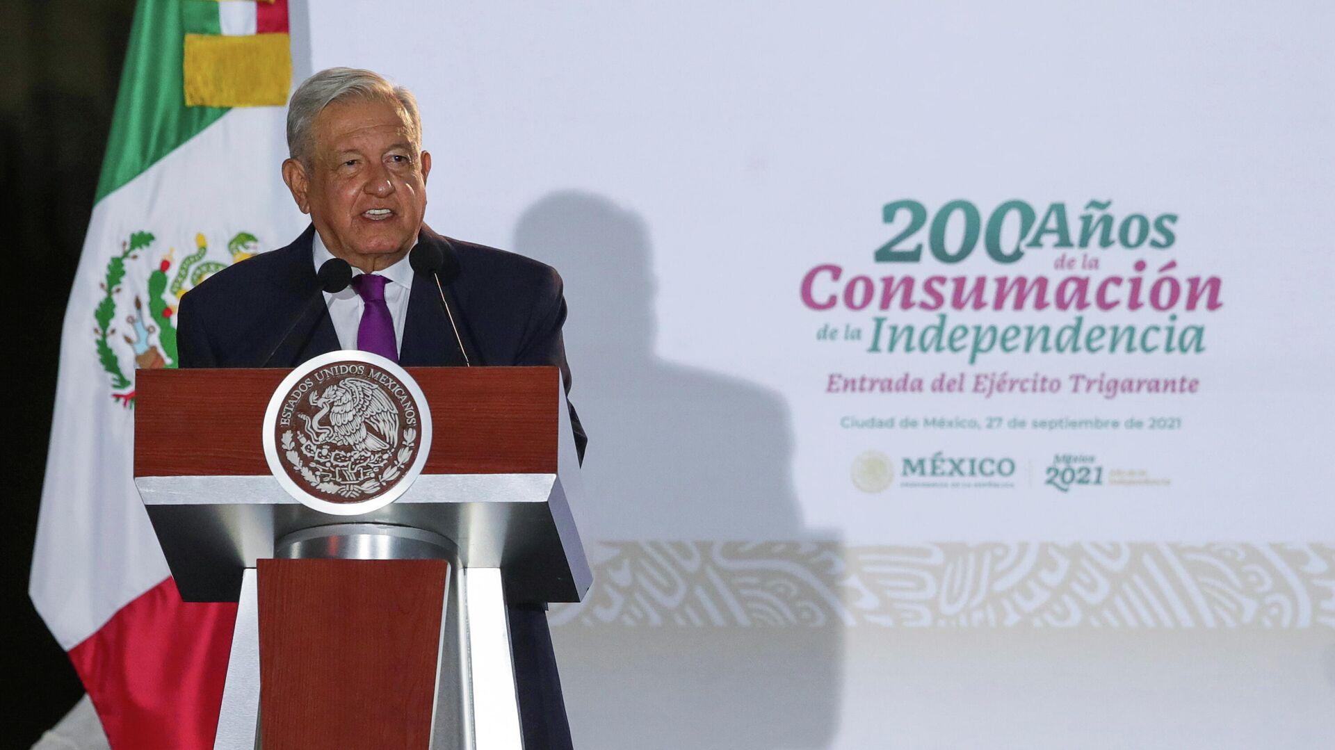 El presidente de México, Andrés Manuel López Obrador - Sputnik Mundo, 1920, 28.09.2021