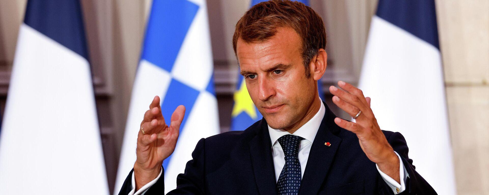 El presidente de Francia, Emmanuel Macron - Sputnik Mundo, 1920, 28.09.2021