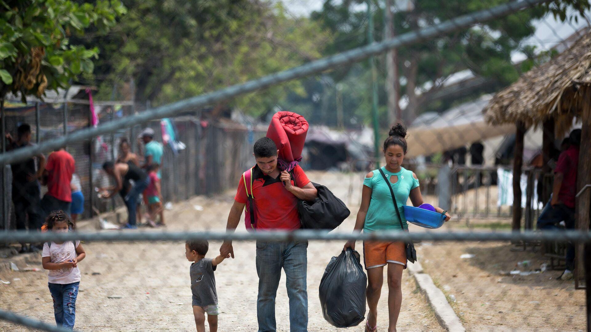 Migrantes centroamericanos en México - Sputnik Mundo, 1920, 08.10.2021