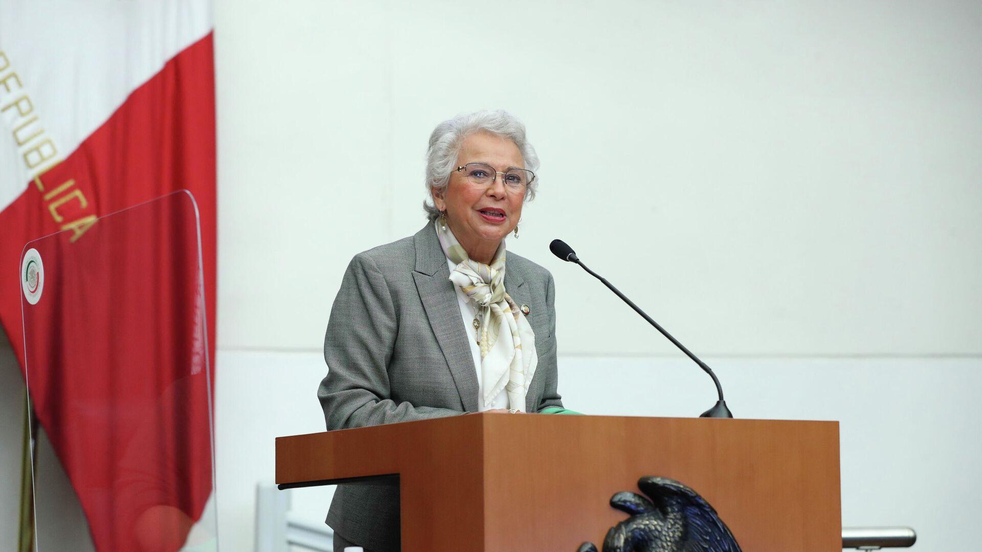 Olga Sánchez Cordero, presidenta del Senado de México - Sputnik Mundo, 1920, 28.09.2021