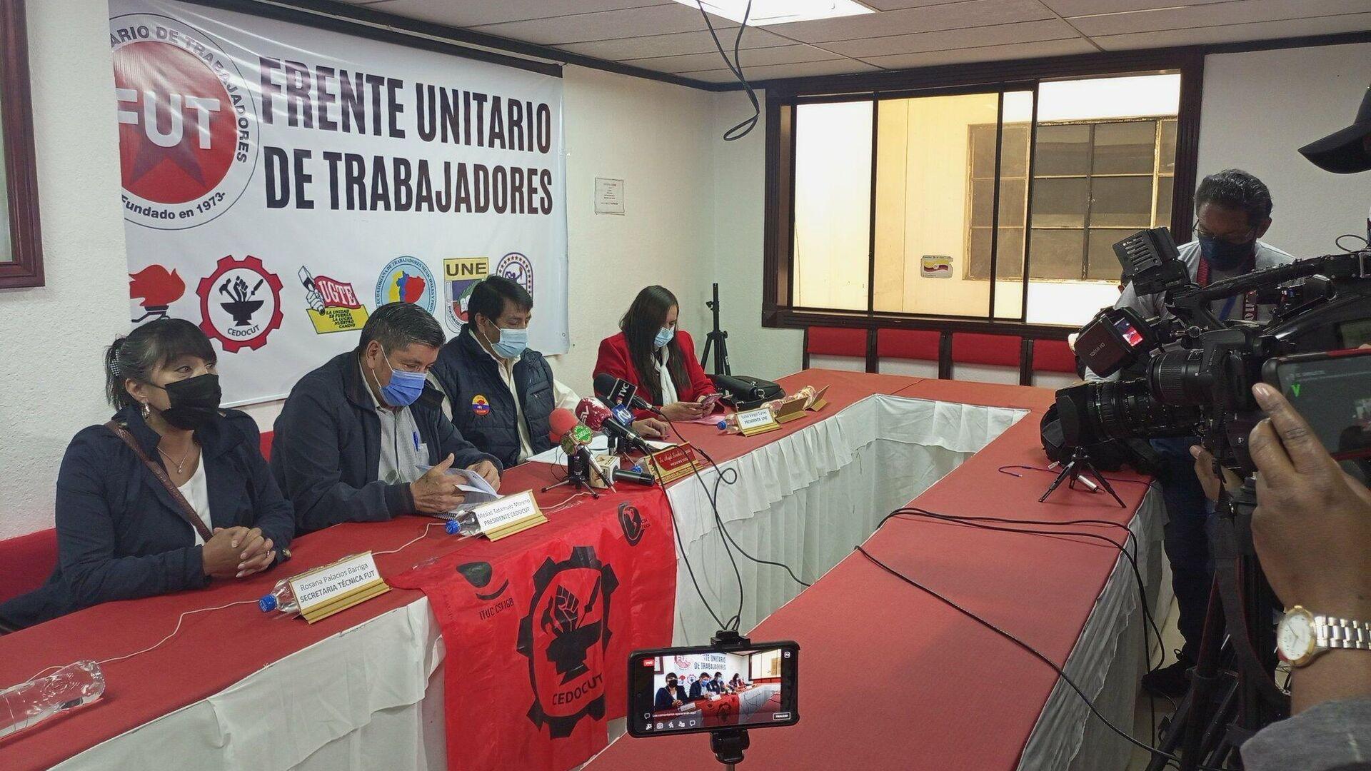 Frtente Unitario de Trabajadores de Ecuador - Sputnik Mundo, 1920, 28.09.2021