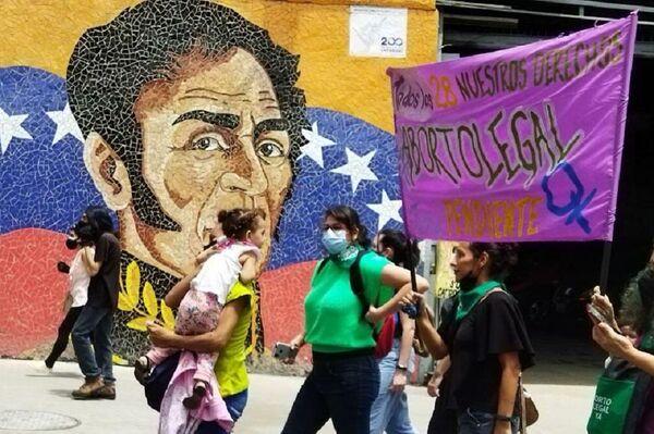 Las organizaciones convocantes exigen derogar los delitos relacionados con el aborto previstos en el Código Penal venezolano - Sputnik Mundo