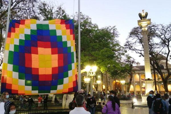 Acto de desagravio a la wiphala en Bolivia - Sputnik Mundo