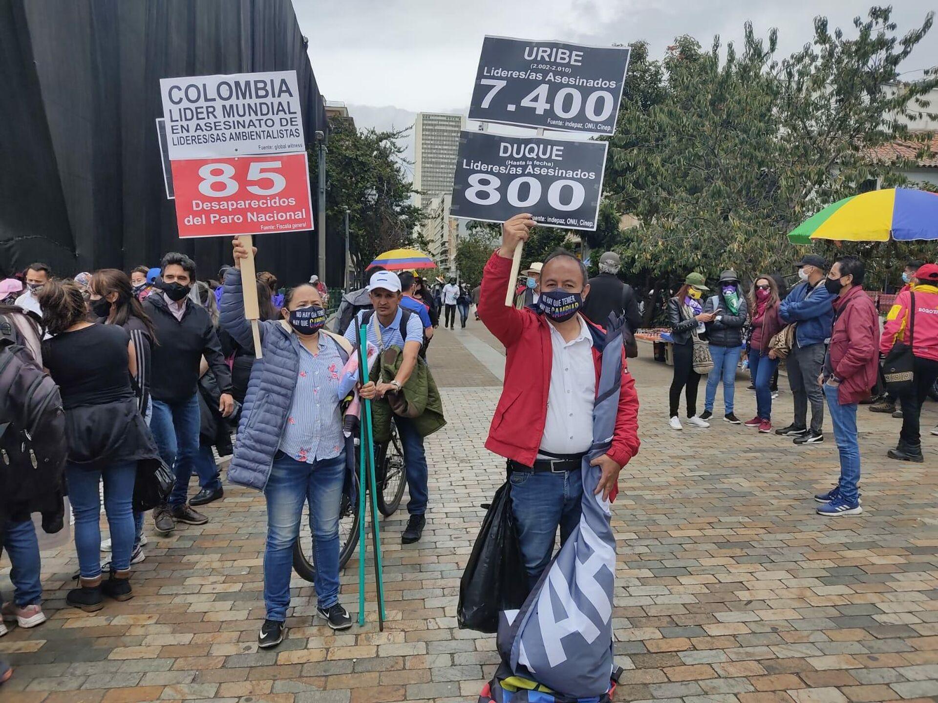 La marcha en Bogotá, Colombia - Sputnik Mundo, 1920, 29.09.2021