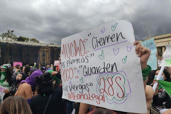 Feministas marchan en Colombia por la despenalización del aborto - Sputnik Mundo