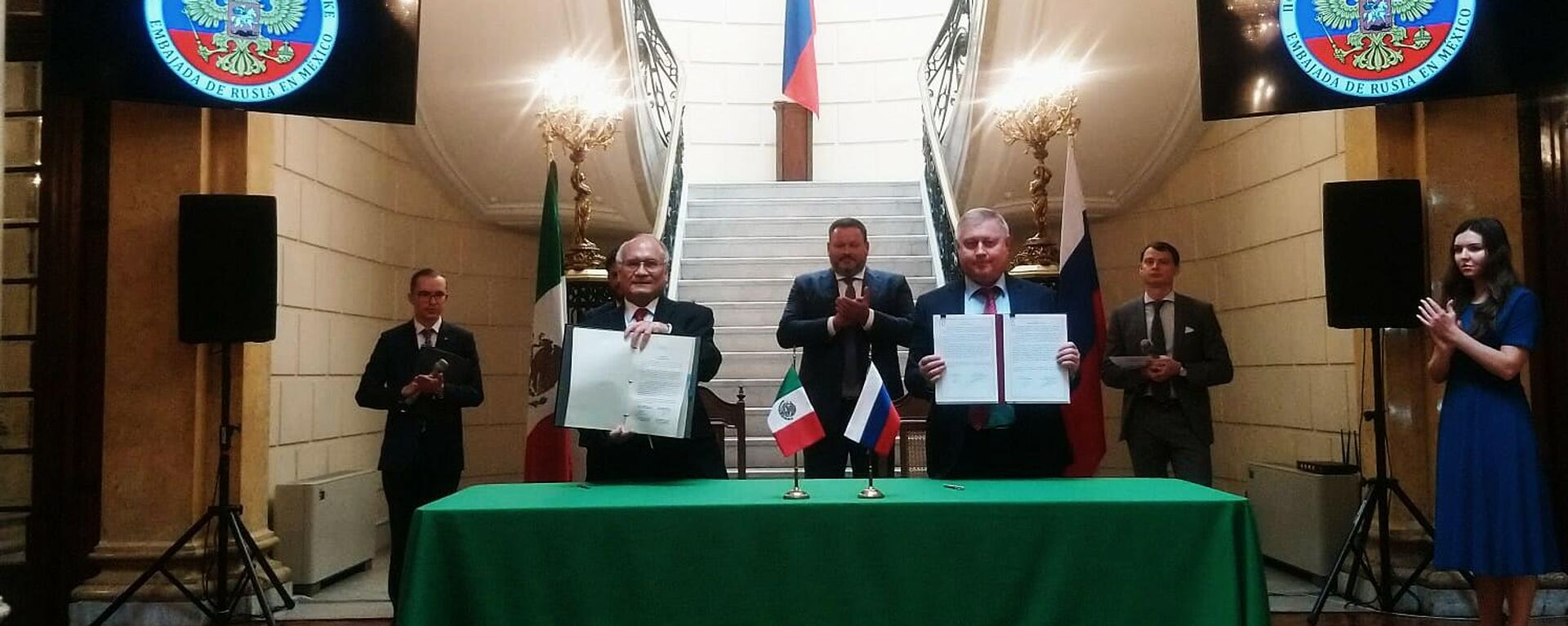 Acuerdo espacial entre Rusia y México - Sputnik Mundo, 1920, 29.09.2021