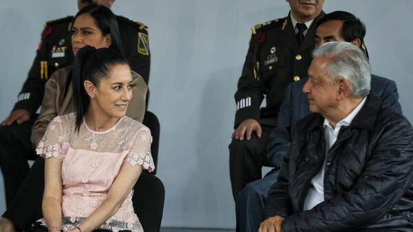 Claudia Sheinbaum y Andrés Manuel López Obrador  - Sputnik Mundo
