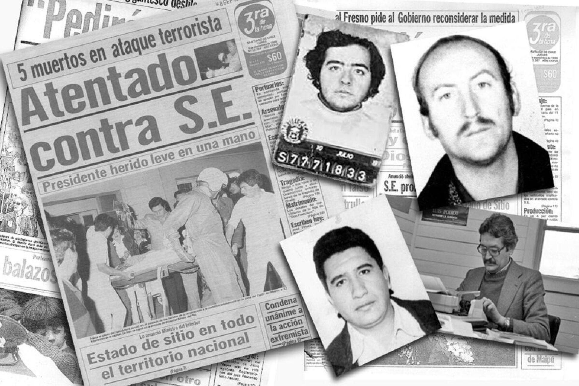 Collage de cuatro víctimas de la dictadura tras el atentado a Pinochet  - Sputnik Mundo, 1920, 30.09.2021