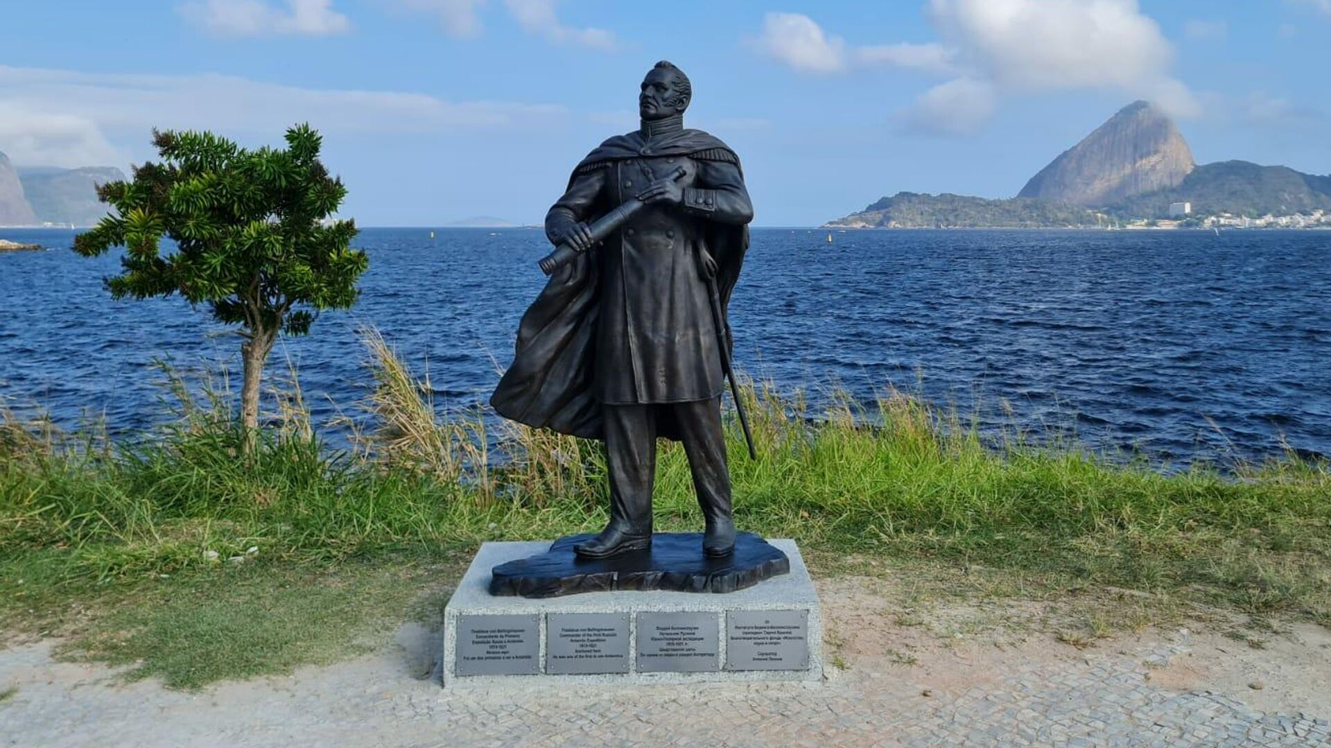 Estatua en homenaje al ruso Fadéi Bellingshausen en Río de Janeiro - Sputnik Mundo, 1920, 30.09.2021