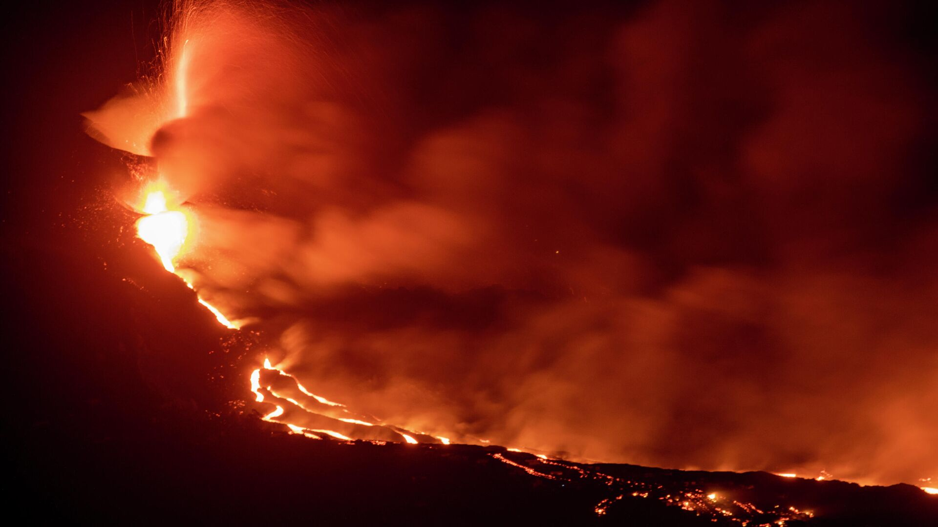 Lava del volcán de La Palma - Sputnik Mundo, 1920, 01.10.2021