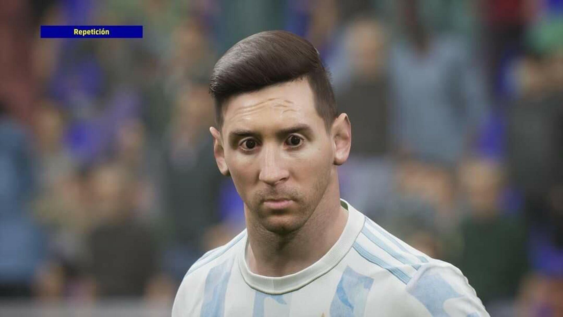 El rostro de Lionel Messi en el videojuego 'eFootball 2022' - Sputnik Mundo, 1920, 01.10.2021