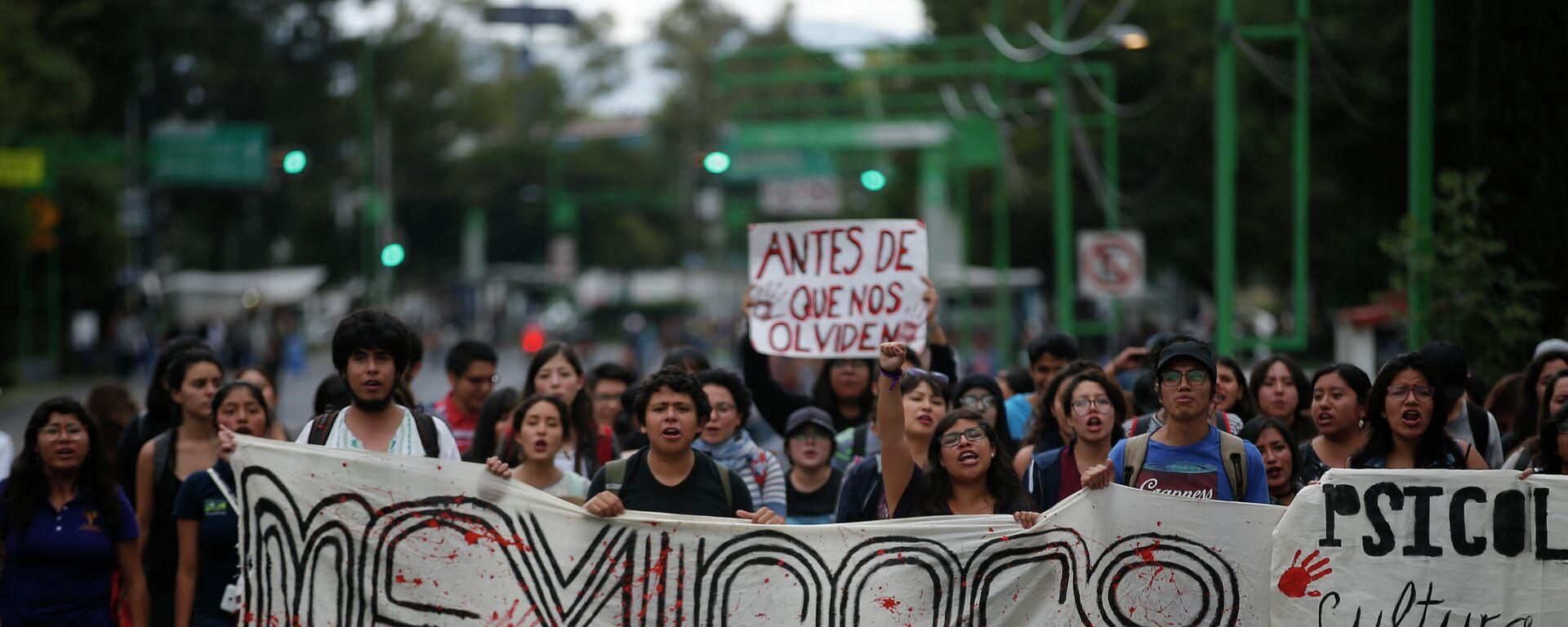 Marcha por el 50 aniversario de la matanza de Tlatelolco - Sputnik Mundo, 1920, 07.10.2021