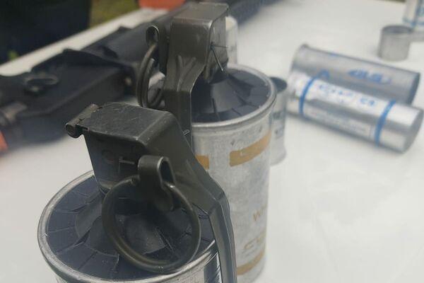 Cartuchos de gas de ESMAD - Sputnik Mundo