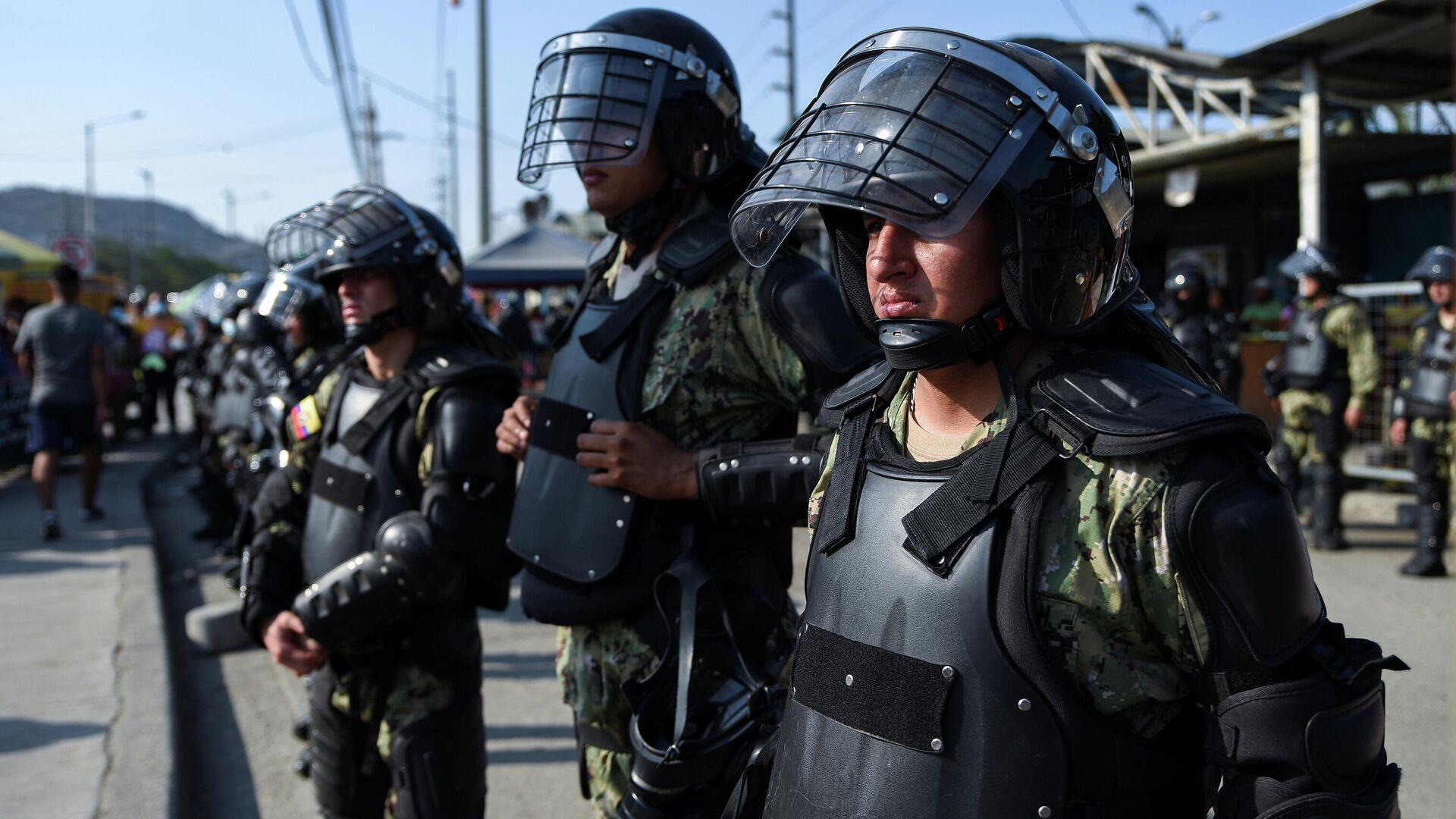 Policías de Ecuador - Sputnik Mundo, 1920, 02.10.2021